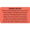 Urgent Notice Labels