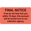 Billing/Collection Labels Final Notice (MAP4790)