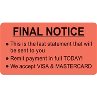 Billing/Collection Labels Final Notice (MAP4830)