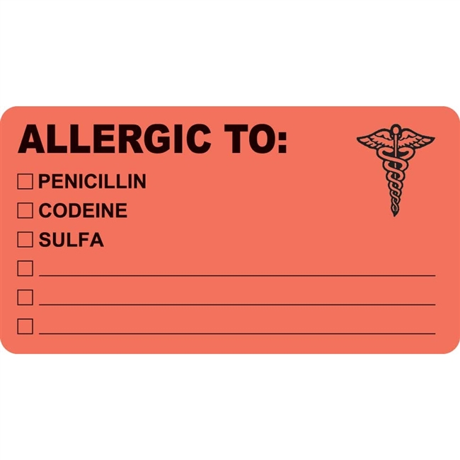 Allergic To Label MAP488