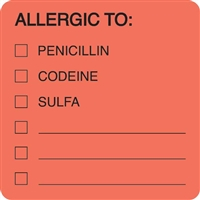 Allergic To Label MAP4890