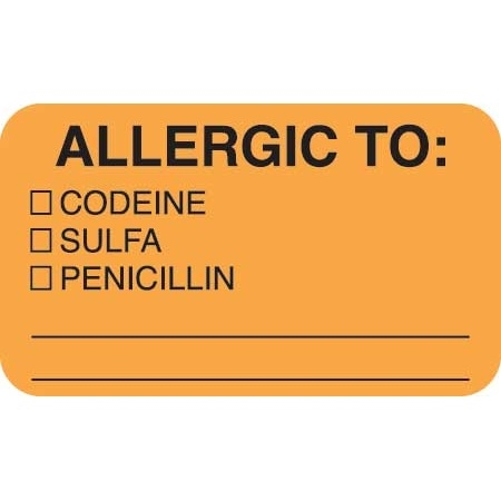 Allergic To Label MAP4920