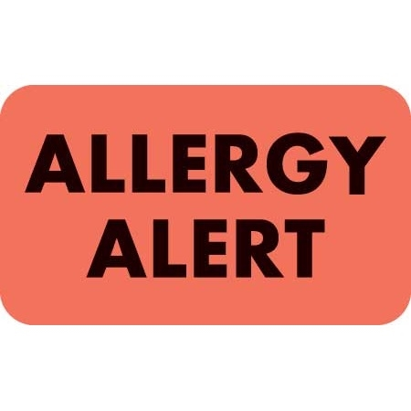 Allergy Alert Label MAP4930