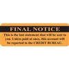 "Final Notice Label, 3""W x 1""H, 250/RL (MAP5810)"