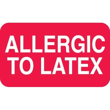 Allergic To Latex Label MAP6260