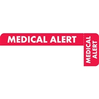 Medical Alert Label, Red/White, 3 x 1, Roll/250