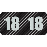 POS Year Label 2018, Black, 1-1/2 x 3/4, 500/Roll