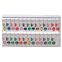 POS 3400 Series Labels Set A-Z (500/Roll)