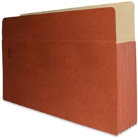 "Redweld 176KG Expandable File Pockets, Extra Wide Legal Size, 5-1/4"" Exp, Full Height Tyvek Gusset, 50/Bx"