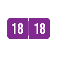 Reynolds Compatible Year Labels, 2018, Purple, 3/4 x 1-1/2, 500/Roll