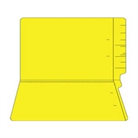 "Colored Folders, End Tab, Legal Size, 3/4"" Exp, No Fasteners, 14pt Yellow, 50/Box"