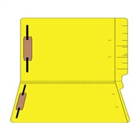 "Colored Folders, End Tab, Legal Size, 3/4"" Exp, Fastener Pos 1/3, 14pt Yellow, 50/Box"