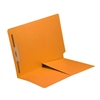 Colored End Tab Folders, Letter, 1/2 Pocket, Fastener Pos 1, 11pt Gold, 50/Bx