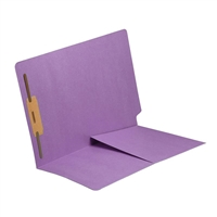 Colored End Tab Folders, Letter, 1/2 Pocket, Fastener Pos 1, 11pt Lavender, 50/Bx
