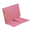 Colored End Tab Folders, Letter, 1/2 Pocket, Fastener Pos 1, 11pt Pink, 50/Bx