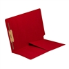 Colored End Tab Folders, Letter, 1/2 Pocket, Fastener Pos 1, 11pt Red, 50/Bx