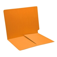 Colored End Tab Folders, Letter, 1/2 Pocket Inside Front, 11pt Gold, 50/Bx
