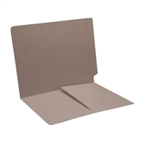 Colored End Tab Folders, Letter, 1/2 Pocket Inside Front, 11pt Gray, 50/Bx