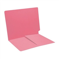 Colored End Tab Folders, Letter, 1/2 Pocket Inside Front, 11pt Pink, 50/Bx