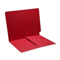 Colored End Tab Folders, Letter, 1/2 Pocket Inside Front, 11pt Red, 50/Bx