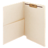 Manila Folder 14pt End Tab Left Panel Pocket 1 Fastener 50/Box