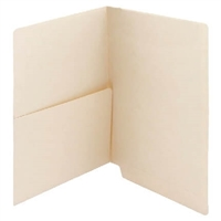 Manila Folder 14pt End Tab Left Panel Pocket 50/Box