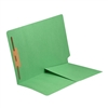 Colored End Tab Folders, Letter, 1/2 Pocket, Fastener Pos 1, 14pt Green, 50/Bx