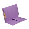 Colored End Tab Folders, Letter, 1/2 Pocket, Fastener Pos 1, 14pt Lavender, 50/Bx