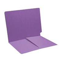 Colored End Tab Folders, Letter, 1/2 Pocket Inside Front, 14pt Lavender, 50/Bx