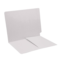 Colored End Tab Folders, Letter, 1/2 Pocket Inside Front, 14pt White, 50/Bx