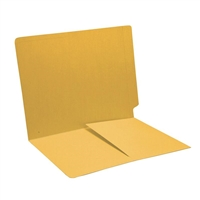 Colored End Tab Folders, Letter, 1/2 Pocket Inside Front, 14pt Yellow, 50/Bx