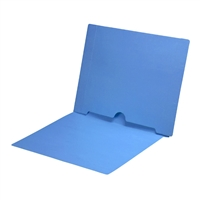 Blue Colored End Tab Pocket Folders Part Number S-09017-BLU