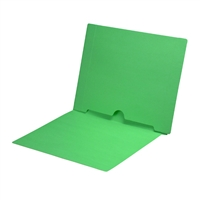 Green Colored End Tab Pocket Folders Part Number S-09017-GRN