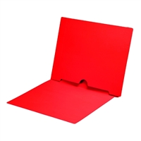 Red Colored End Tab Pocket Folders Part Number S-09017-RED
