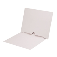 White Colored End Tab Pocket Folders Part Number S-09017-WHT