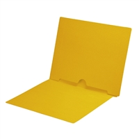 Yellow Colored End Tab Pocket Folders Part Number S-09017-YLW