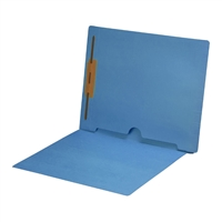 Blue Colored End Tab Pocket Folders Part Number S-09018-BLU
