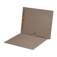 Dark Gray Folder End Tab Full Pocket 1 Fastener 50/Box