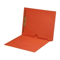 Dark Orange Folder End Tab Full Pocket 1 Fastener 50/Box