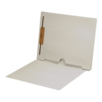 White Folder End Tab Full Pocket 1 Fastener 50/Box