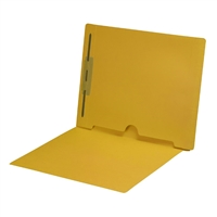Yellow Colored End Tab Pocket Folders Part Number S-09018-YLW