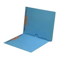 Blue Colored End Tab Pocket Folders Part Number S-09019-BLU