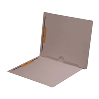 Dark Gray Folder End Tab Full Pocket 2 Fasteners 50/Box