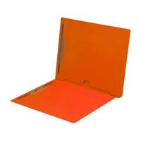 Dark Orange Folder End Tab Full Pocket 2 Fasteners 50/Box