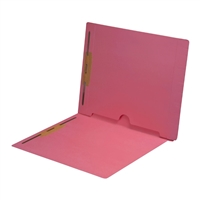 Pink Colored End Tab Pocket Folders Part Number S-09019-PNK
