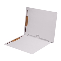 White Folder End Tab Full Pocket 2 Fasteners 50/Box