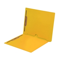 Yellow Colored End Tab Pocket Folders Part Number S-09019-YLW