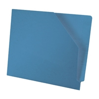 Diagonal Cut File Jacket Blue 100/Box