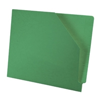 Diagonal Cut File Jacket Dark Green 100/Box