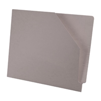 Diagonal Cut File Jacket Gray 100/Box